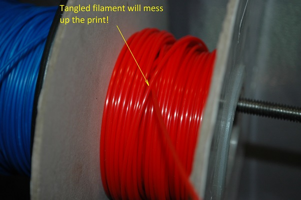 Tangled filament causes all sort of 3D printing nightmares.