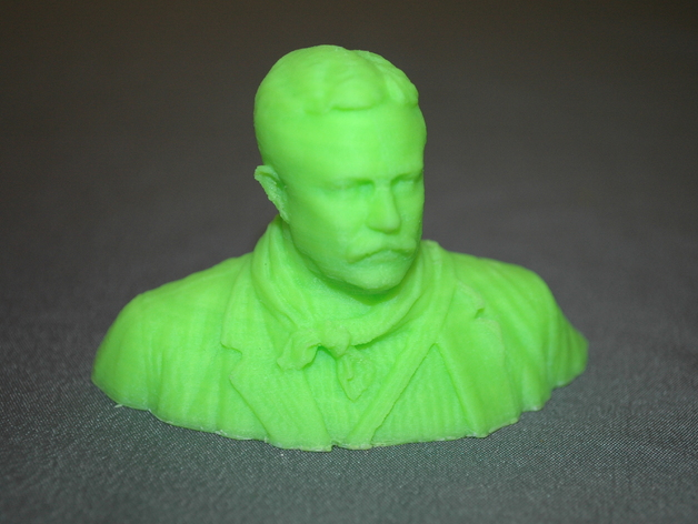 Teddy Roosevelt 3D printed bust
